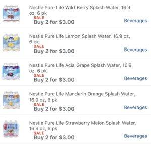 Meijer has cheap water and toothbrushes this week